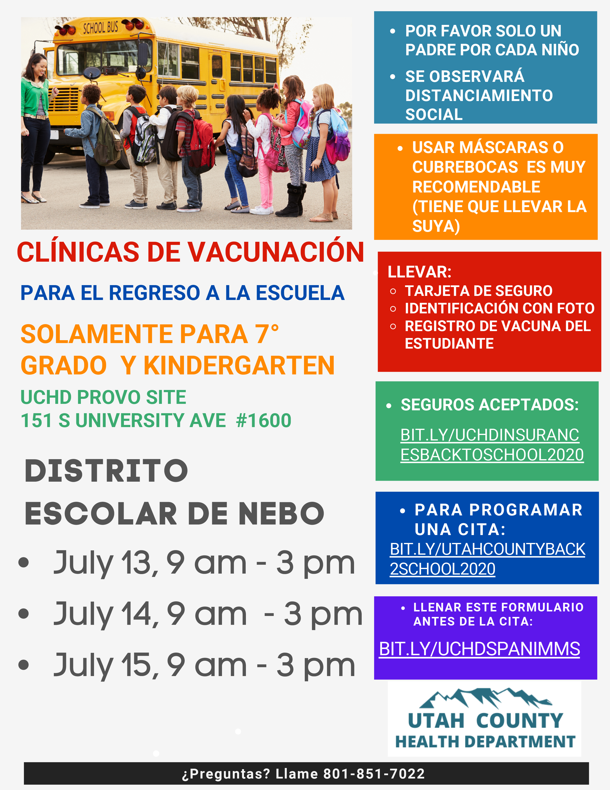 Immunization Flyer Spanish